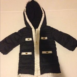 Baby gap coat black and white 12 to 18 months